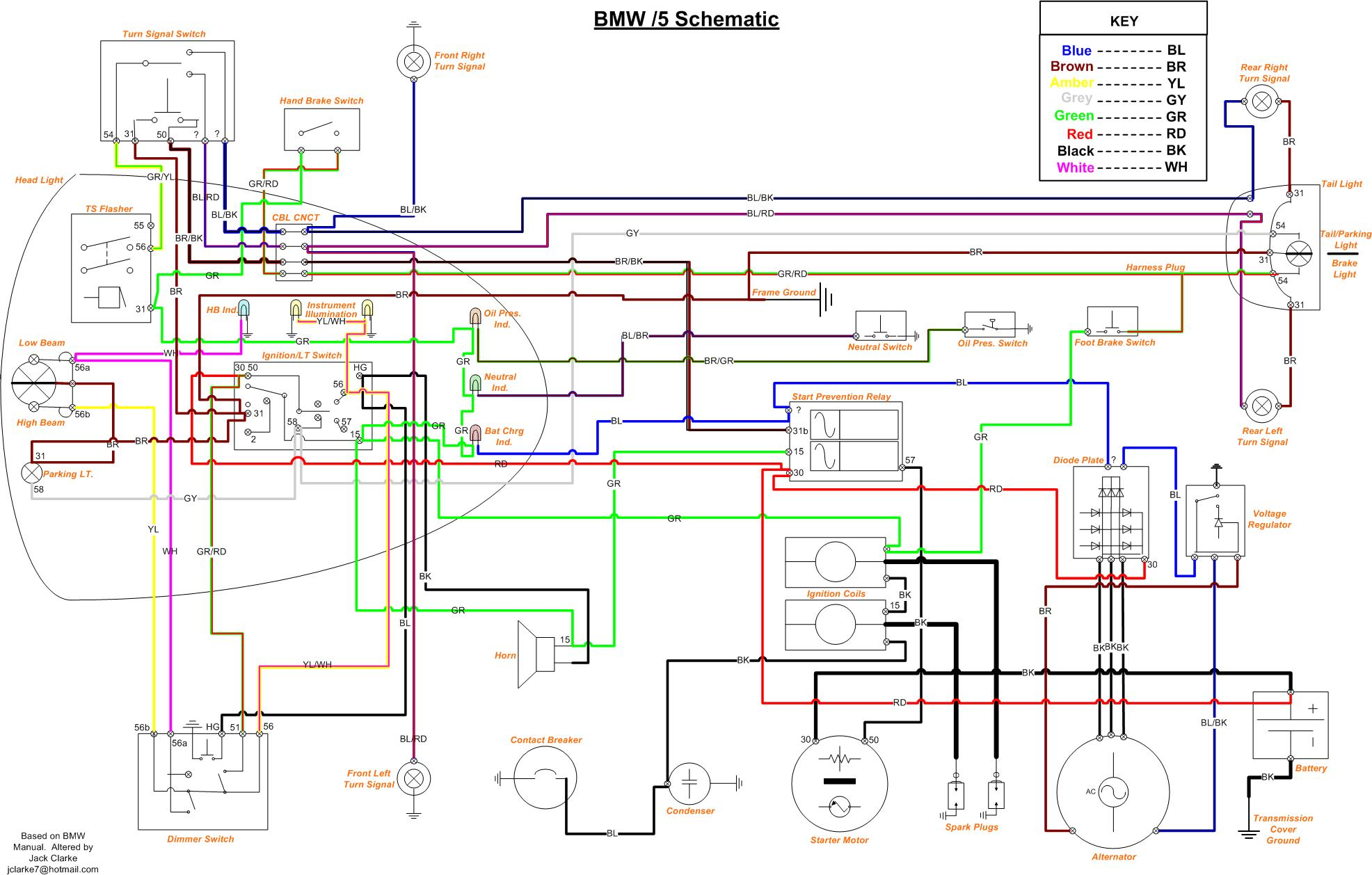 bmw motorcycle schematic diagrams r51 3 r50 5 r60 5 r75 5 this is the very best schematic for the 5 that i recall seeing bar none we all owe jack a big thank you for taking the time to do this up on
