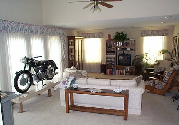 R25/3 BMW motorcycle in our living room